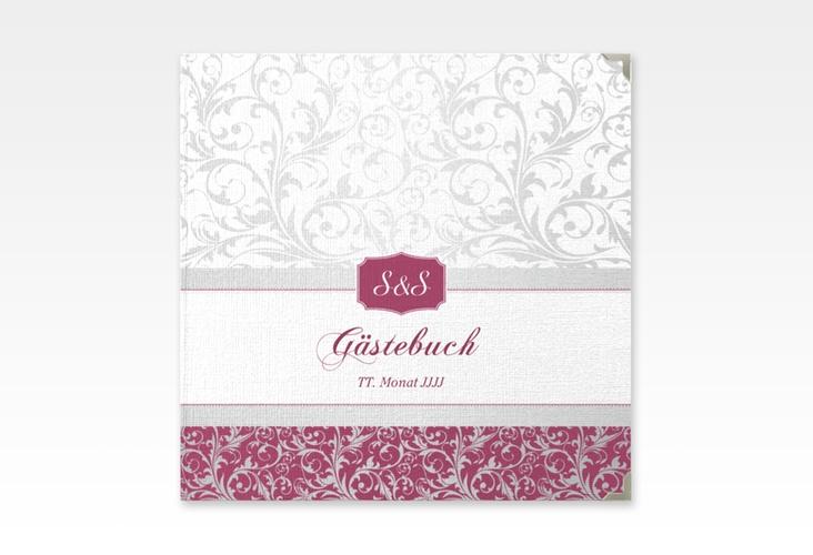 "Gästebuch Selection Hochzeit ""Latina"" Leinen-Hardcover pink"