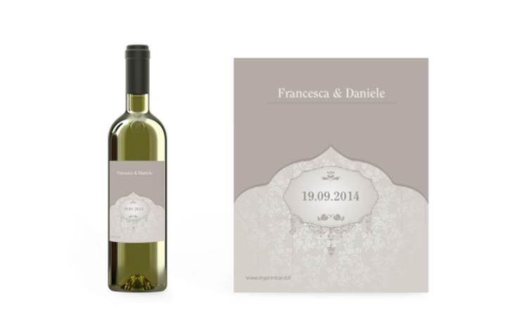 Etichette vino matrimonio collezione Francoforte Etikett Weinflasche 4er Set