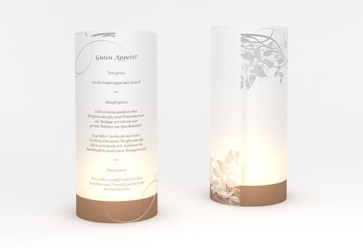 """Windlicht Menü Hochzeit """"Florenz"""" Windlicht braun"""