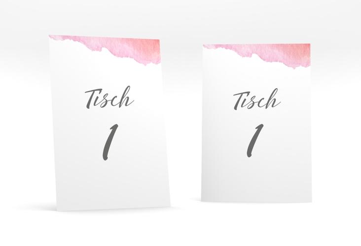 """Tischnummer Hochzeit """"Aquarella"""" Tischaufsteller"""