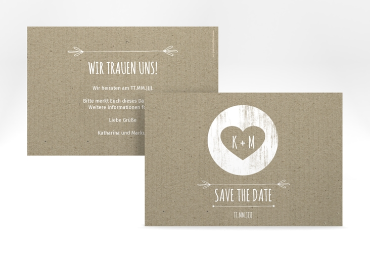"Save the Date-Karte ""Shabby"" A6 quer"