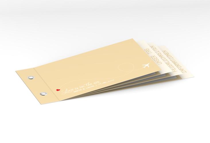 """Hochzeitseinladung """"Weddingpass"""" Booklet beige"""