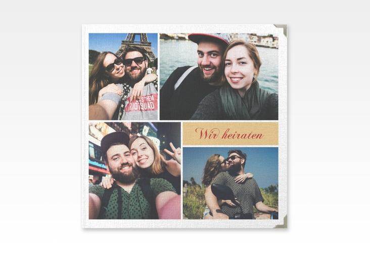 """Gästebuch Selection Hochzeit """"Collage"""" Leinen-Hardcover"""