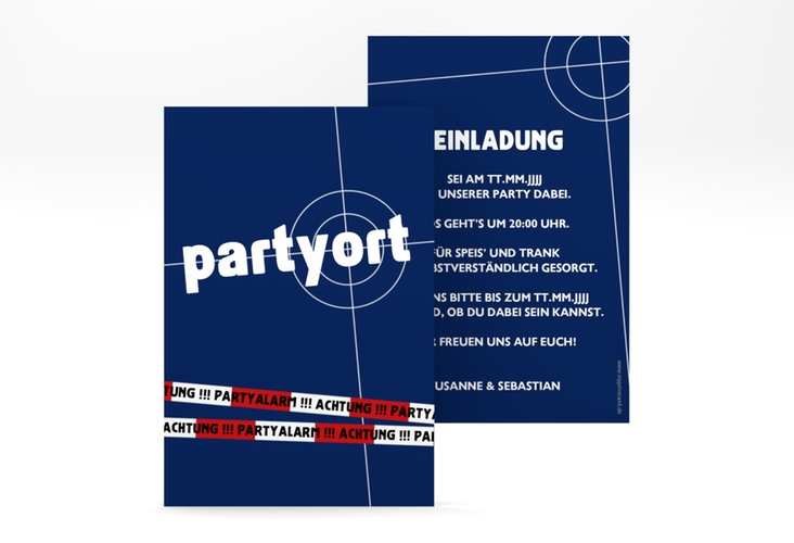 """Einladungskarte """"Partyort"""" A6 hoch"""