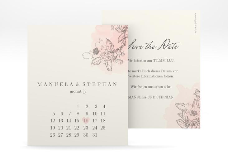 "Save the Date-Kalenderblatt ""Artlover"" Kalenderblatt-Karte"