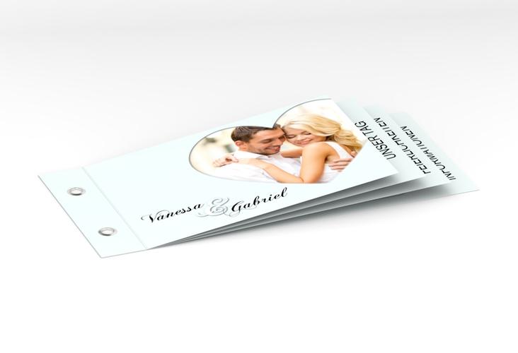 """Hochzeitseinladung """"Sweetheart"""" Booklet tuerkis"""
