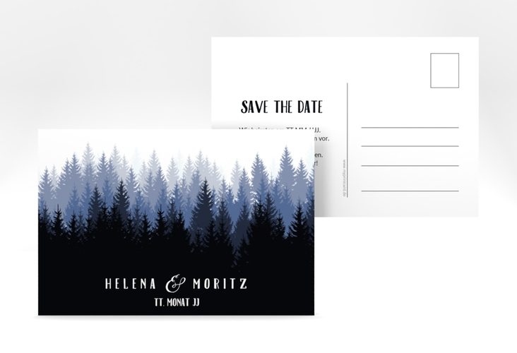 "Save the Date-Postkarte ""Forest"" A6 Postkarte"