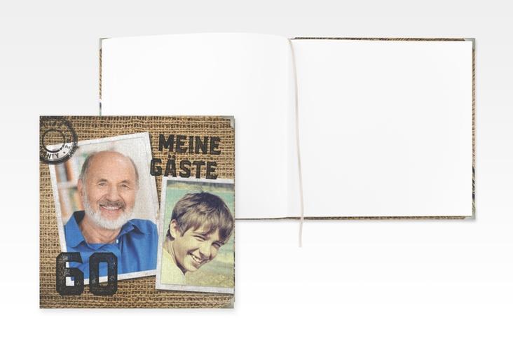 """Gästebuch Selection Geburtstag """"Lifetime"""" Leinen-Hardcover beige"""