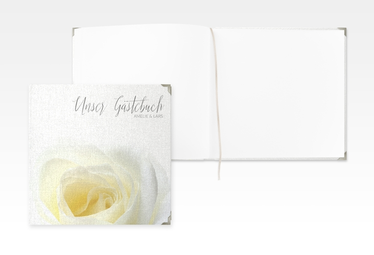 "Gästebuch Selection Hochzeit ""Rose"" Leinen-Hardcover"