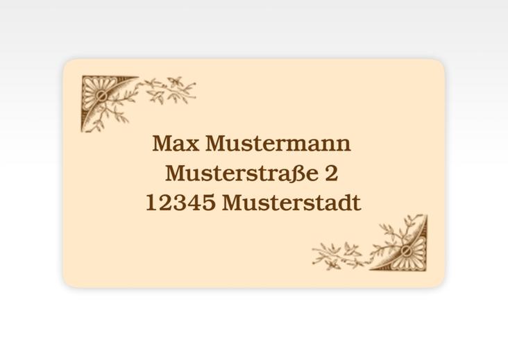 """Empfängeretikett Hochzeit """"Storybook"""" 63,5 x 38,1 mm"""