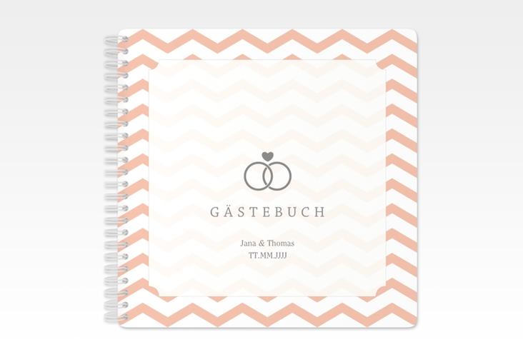 """Gästebuch Hochzeit """"Avery"""" Ringbindung weiss"""