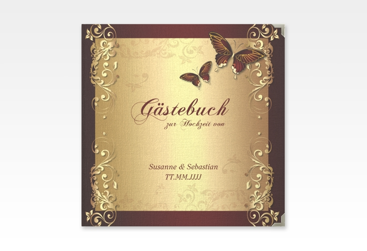 "Gästebuch Selection Hochzeit ""Toulouse"" Leinen-Hardcover rot"