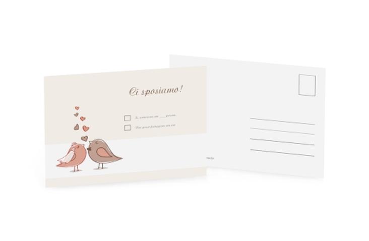 Biglietti risposta matrimonio collezione Venezia A6 Postkarte