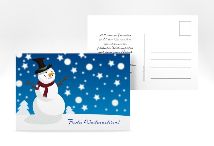 """Weihnachtskarte """"Snowy"""" A6 Postkarte"""