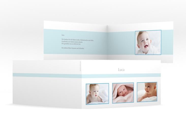 """Geburtskarte """"Frame"""" DIN lang Klappkarte"""