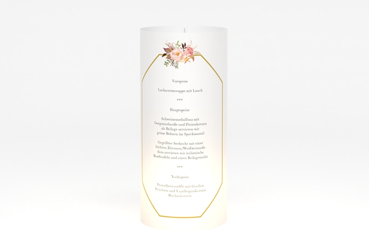 """Windlicht Menü Hochzeit """"Prachtvoll"""" Windlicht"""