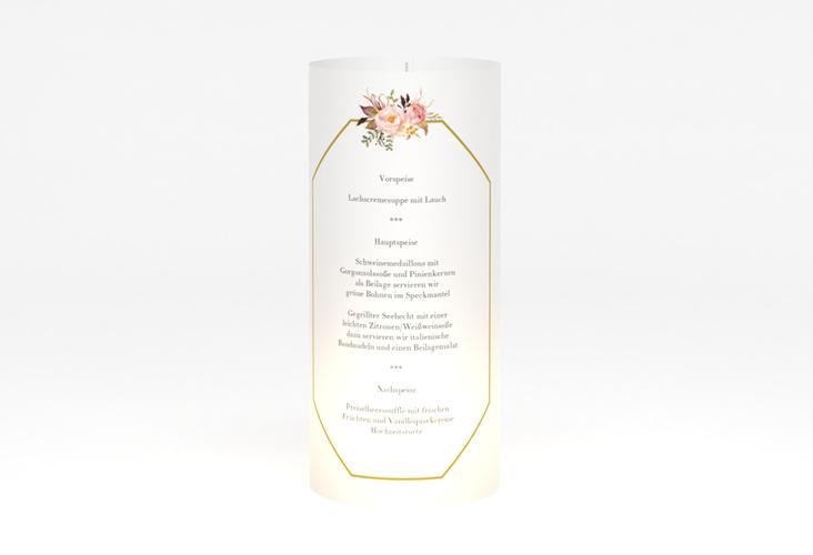 """Windlicht Menü Hochzeit """"Prachtvoll"""" Windlicht weiss"""