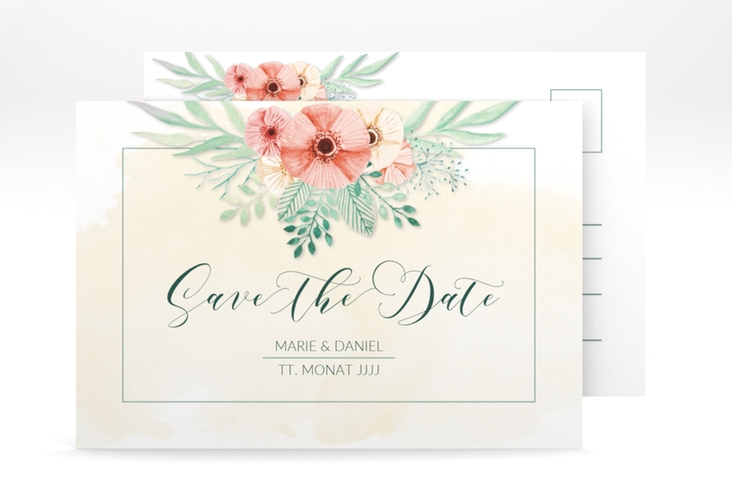 "Save the Date-Postkarte ""Surfinia"" A6 Postkarte apricot"