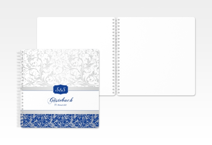 "Gästebuch Hochzeit ""Latina"" Ringbindung blau"