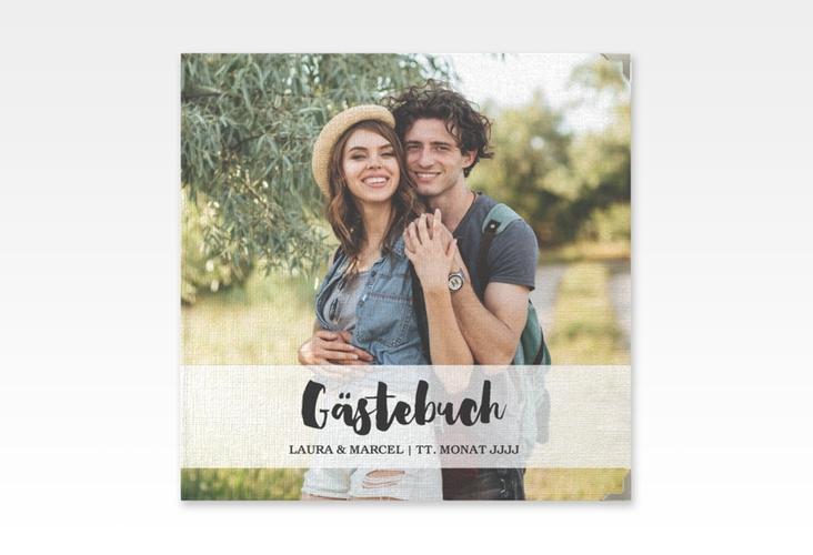"""Gästebuch Selection Hochzeit """"Mirage"""" Leinen-Hardcover weiss"""