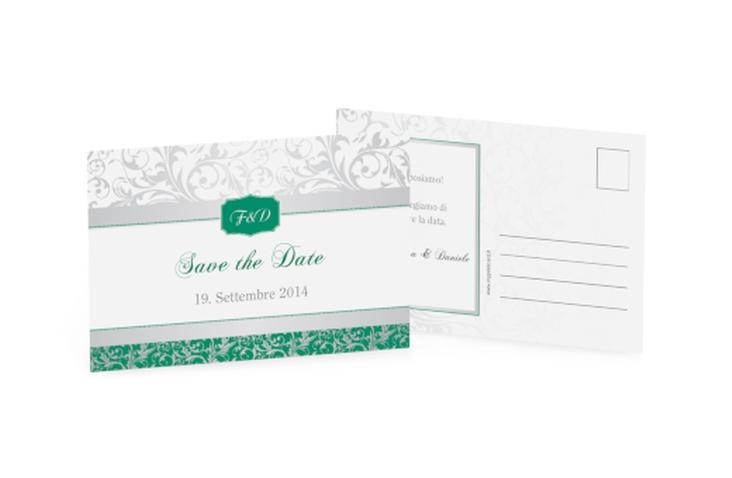 Biglietti Save the Date collezione Latina A6 Postkarte verde