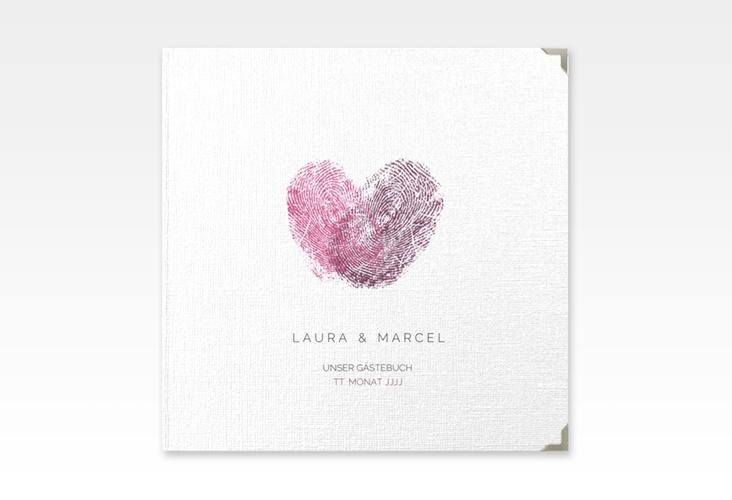 """Gästebuch Selection Hochzeit """"Fingerprint"""" Leinen-Hardcover"""
