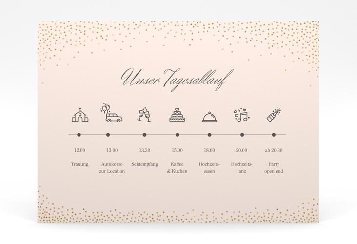 """Tagesablauf Poster Hochzeit """"Glitter"""" 70 x 50 cm Poster rosa"""