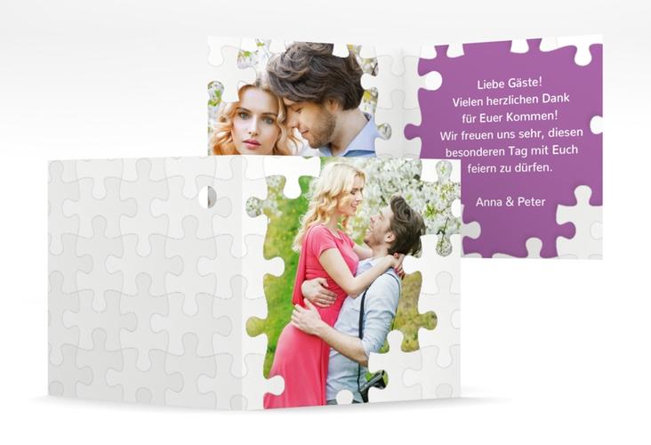 """Geschenkanhänger Hochzeit """"Puzzle"""" Geschenkanhänger 10er Set lila"""