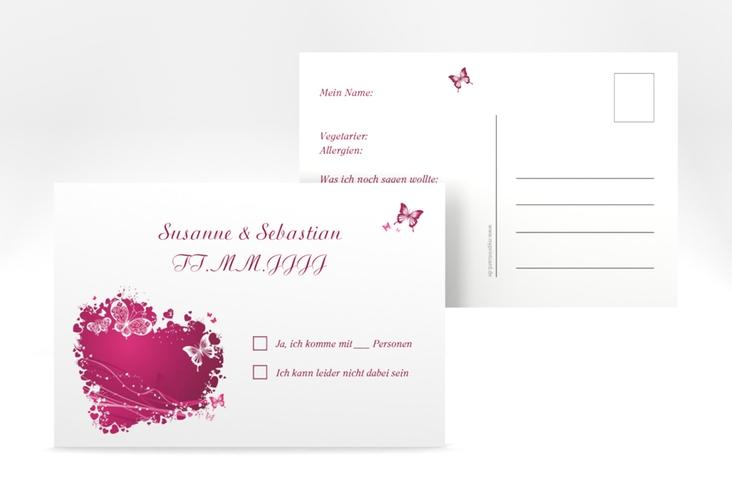"""Antwortkarte Hochzeit """"Mailand"""" A6 Postkarte"""