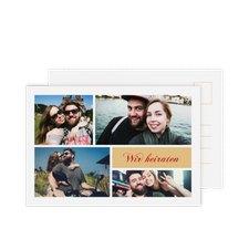 "Save the Date-Postkarte ""Collage"""
