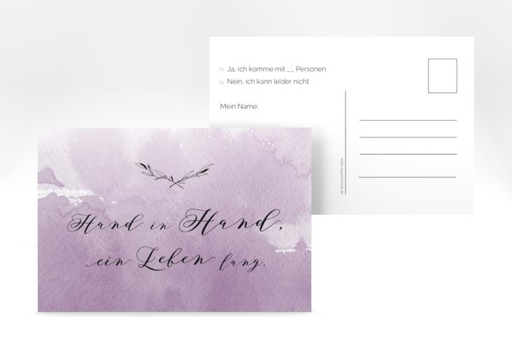 """Antwortkarte Hochzeit """"Divine"""" A6 Postkarte flieder"""