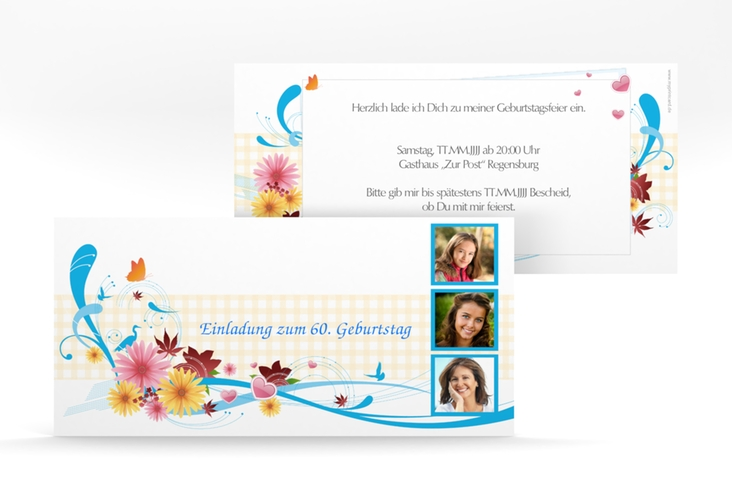 "Einladungskarte ""Elisabeth"" DIN lang"