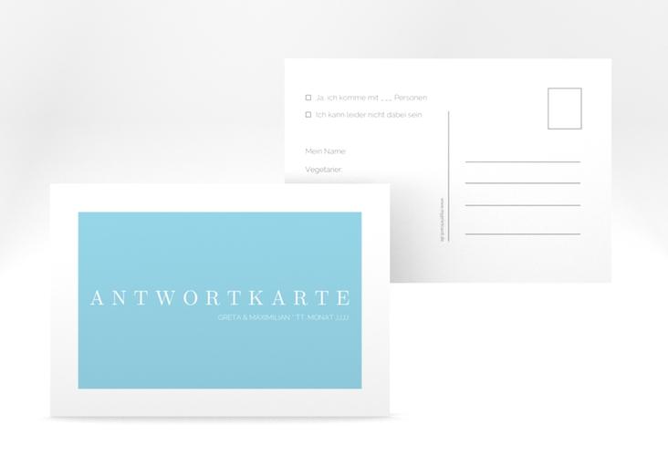 "Antwortkarte Hochzeit ""Simply"" A6 Postkarte"