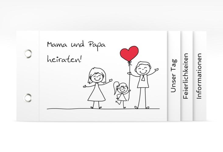 """Hochzeitseinladung """"Familia"""" Booklet"""
