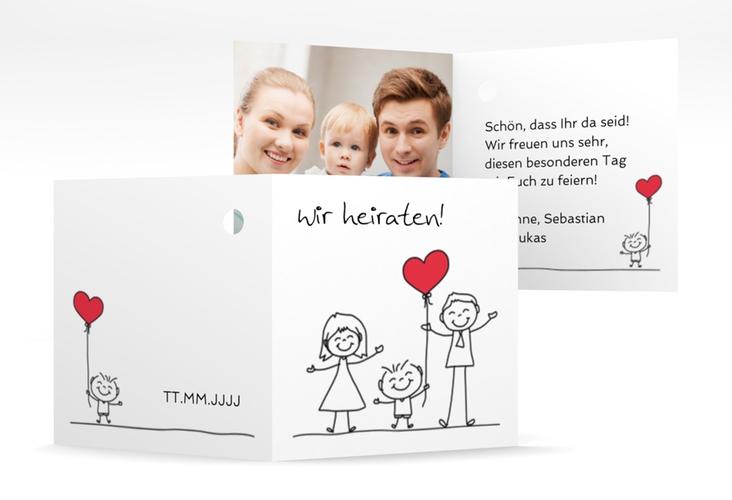 "Geschenkanhänger Hochzeit ""Family"" Geschenkanhänger 10er Set weiss"