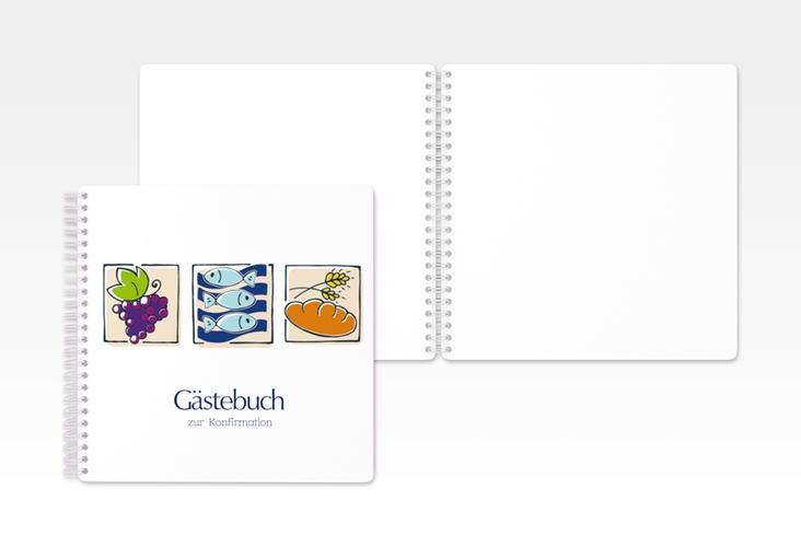 "Gästebuch Konfirmation ""Symbole"" Ringbindung"