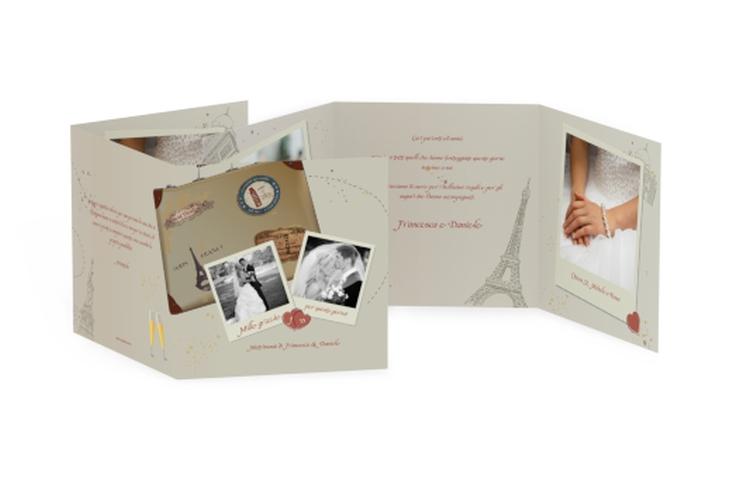 Ringraziamenti matrimonio collezione Catania Quadr. Karte doppelt