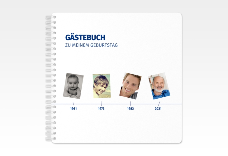 "Gästebuch Geburtstag ""Timeline"" Ringbindung"