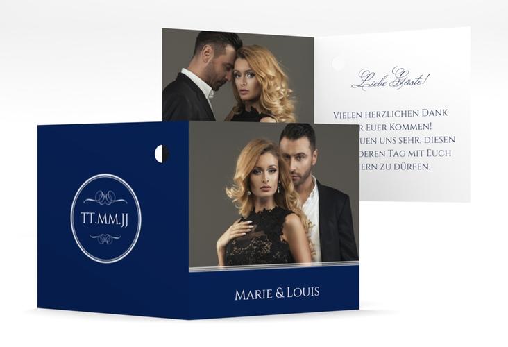 """Geschenkanhänger Hochzeit """"Elegancy"""" Geschenkanhänger 10er Set blau"""