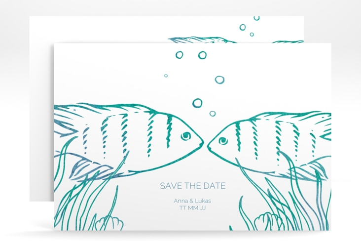 "Save the Date-Karte ""Ocean"" A6 quer"