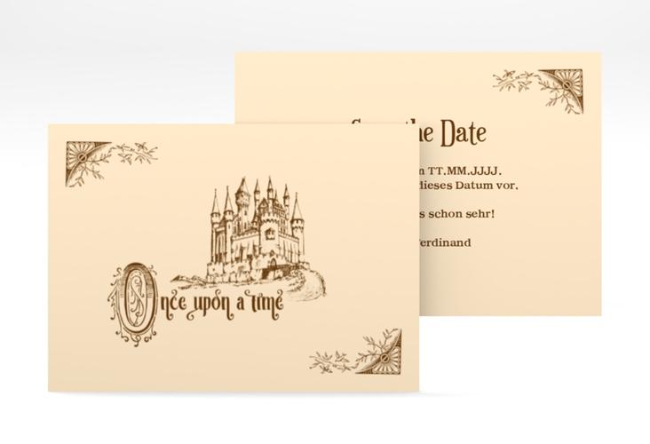 "Save the Date-Visitenkarte ""Storybook"" Visitenkarte"