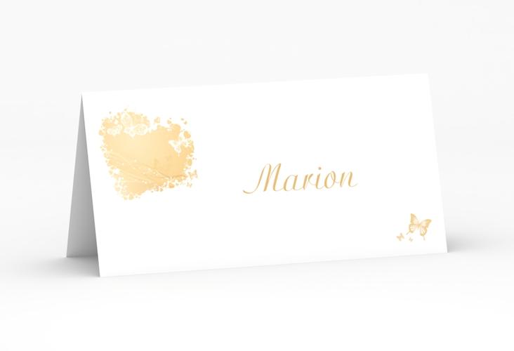 """Tischkarte Hochzeit """"Mailand"""" Tischkarten beige"""