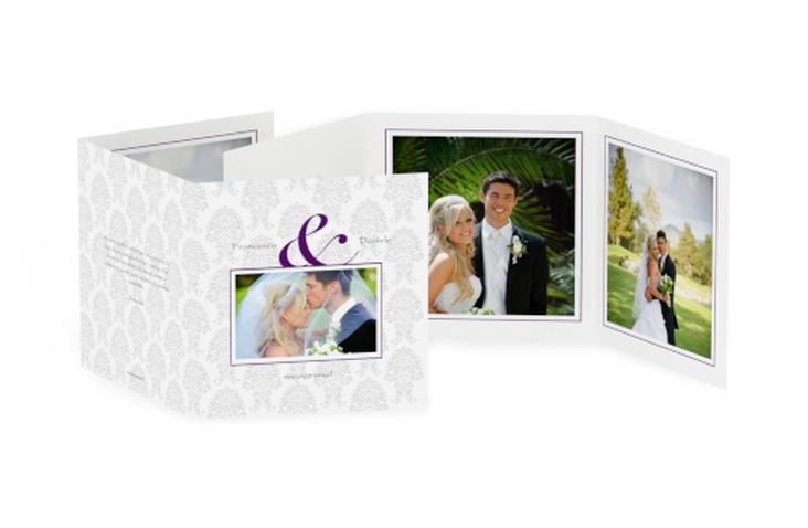 Ringraziamenti matrimonio collezione Nantes Quadr. Karte doppelt lila