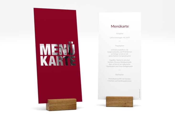 """Menükarte Geburtstag """"Numbers"""" DIN lang hoch rot"""