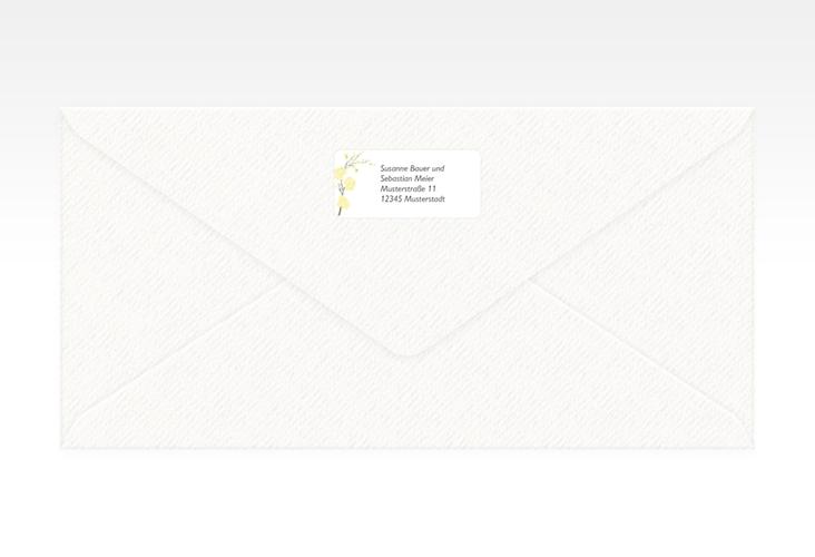 """Absenderetikett Hochzeit """"Salerno"""" 45,7 x 21,2 mm gelb"""