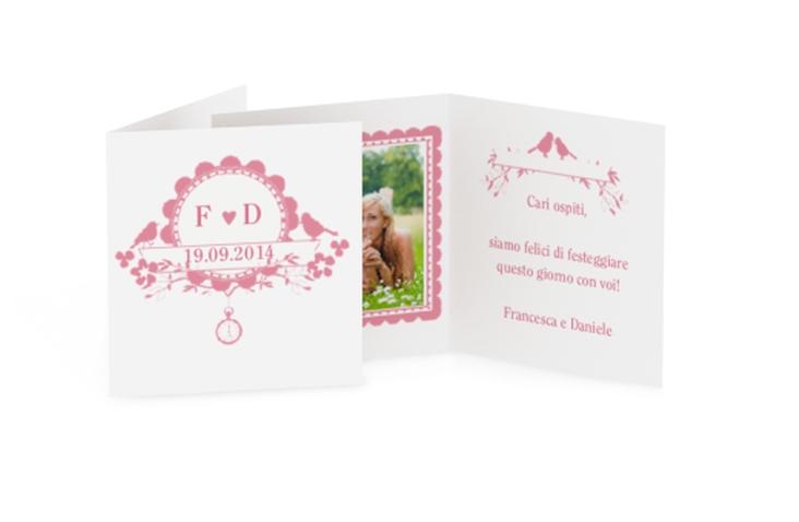 Biglietti Bomboniera matrimonio collezione Monza Geschenkanhänger 10er Set rosa