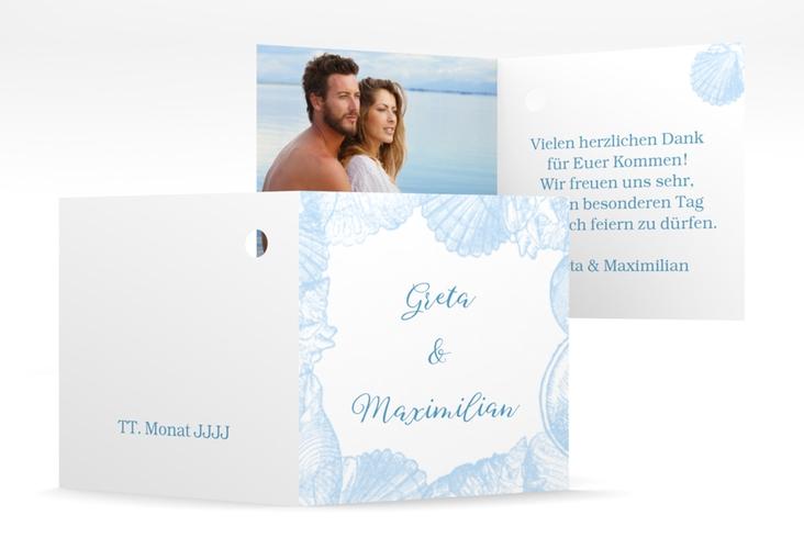 """Geschenkanhänger Hochzeit """"Muschelreich"""" Geschenkanhänger 10er Set blau"""