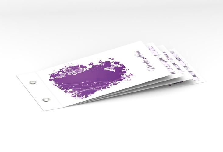 """Danksagungskarte Hochzeit """"Mailand"""" Booklet lila"""