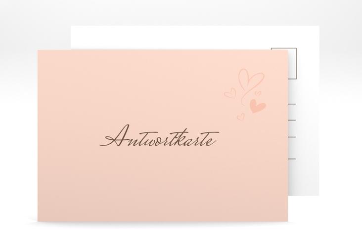 """Antwortkarte Hochzeit """"Purity"""" A6 Postkarte"""