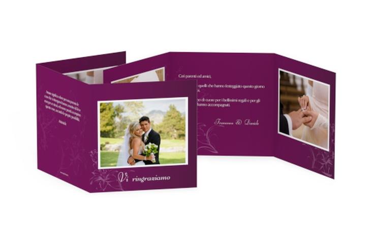 Ringraziamenti matrimonio collezione Lille Quadr. Karte doppelt fucsia